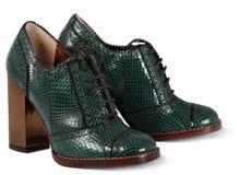 Green women shoes Royalty Free Stock Photo