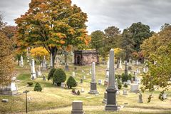 Green-Wood cemetery in Brooklyn, New York Stock Photos