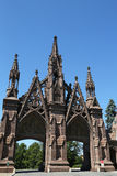 Green-Wood cemetery gates  in Brooklyn Royalty Free Stock Images