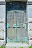 Green-Wood cemetery - mausoleum door, Brooklyn, NY Stock Images