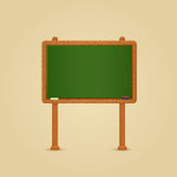 Green Wood Chalkboard Stock Photo