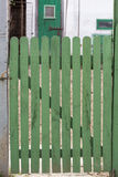 Green wood door Royalty Free Stock Photos