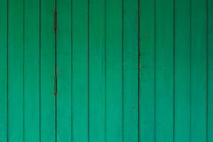 Green wood door Thai art Royalty Free Stock Photo