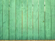 Green wood fence Stock Photos
