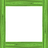 Green wood frame. For design Royalty Free Stock Photo