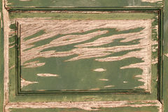 Green wood panel Stock Image