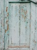 Green wood panel. stock photography