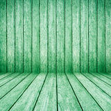 Green wood perspective background Stock Photos