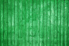 Green wood planks Royalty Free Stock Image