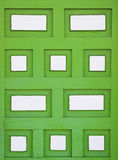 Green wood rectangular shaped Stock Images