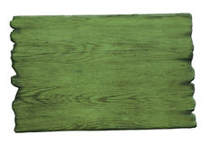 Green wood sign isolated on white Royalty Free Stock Photography