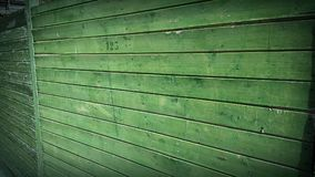 Green wood wall Royalty Free Stock Photography