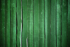 Green wood wall Stock Photography