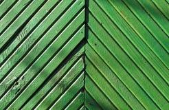 Green wood wall texture. Royalty Free Stock Photos