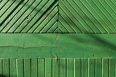 Green wood wall texture. Royalty Free Stock Photography
