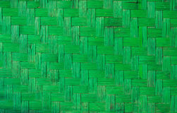 Green wood weave texture, handmade nature background Royalty Free Stock Image
