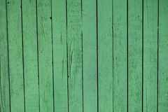 Green wooden background. Vertical planks Royalty Free Stock Photos