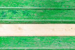 Green wooden bench Stock Image