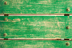 Green wooden bench Royalty Free Stock Photos