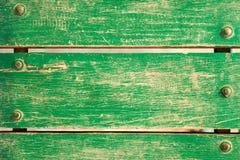 Green wooden bench Royalty Free Stock Photos