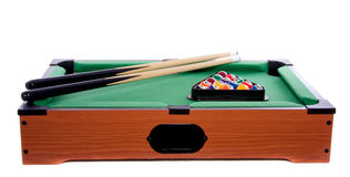 A green wooden billiard table Royalty Free Stock Image