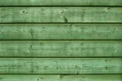 Green Wooden Boards Stock Photo