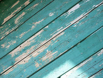 Green wooden boards diagonal image Royalty Free Stock Image