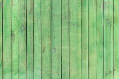 Green wooden boards for usage as vintage background Stock Photos