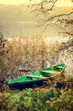 Green wooden boat Royalty Free Stock Image