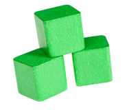 Green wooden cubes Royalty Free Stock Images