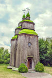 Green wooden domes of the Orthodox Church Royalty Free Stock Photos