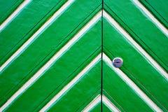 Green wooden door Stock Image