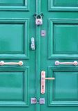 Green wooden door Royalty Free Stock Photo