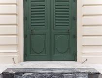 Green wooden door. Stock Images