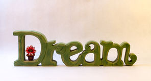 Green Wooden Dream Sign Stock Images