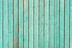 Green wooden fence background. Horizontal Stock Image