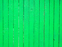 Green wooden fence background Stock Photos