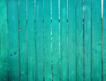 Green wooden fence, background, texture stock photo