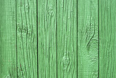 Green wooden fence closeup Stock Image