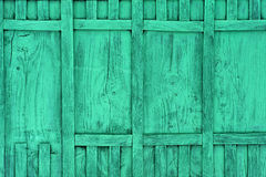 Green wooden fence panels. Close up of wooden fence panels Royalty Free Stock Photos
