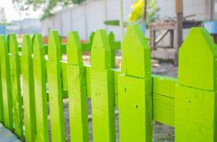Green wooden fence Stock Image