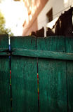 Green wooden fence Royalty Free Stock Image