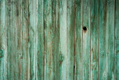 Green wooden fence surface texture Royalty Free Stock Photography