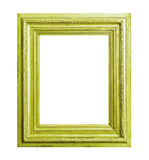 Green wooden frame Royalty Free Stock Image