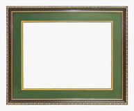 Green wooden frame Stock Image