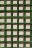 Green wooden lattice wall.  Stock Photography