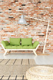 Green wooden lounge Royalty Free Stock Images