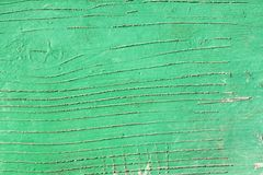 Green wooden painted surface Royalty Free Stock Photography