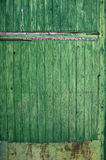 Green wooden panel door. Aged texture Royalty Free Stock Images