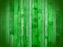 Green wooden planks. Green latticework connected to the wall Stock Photos